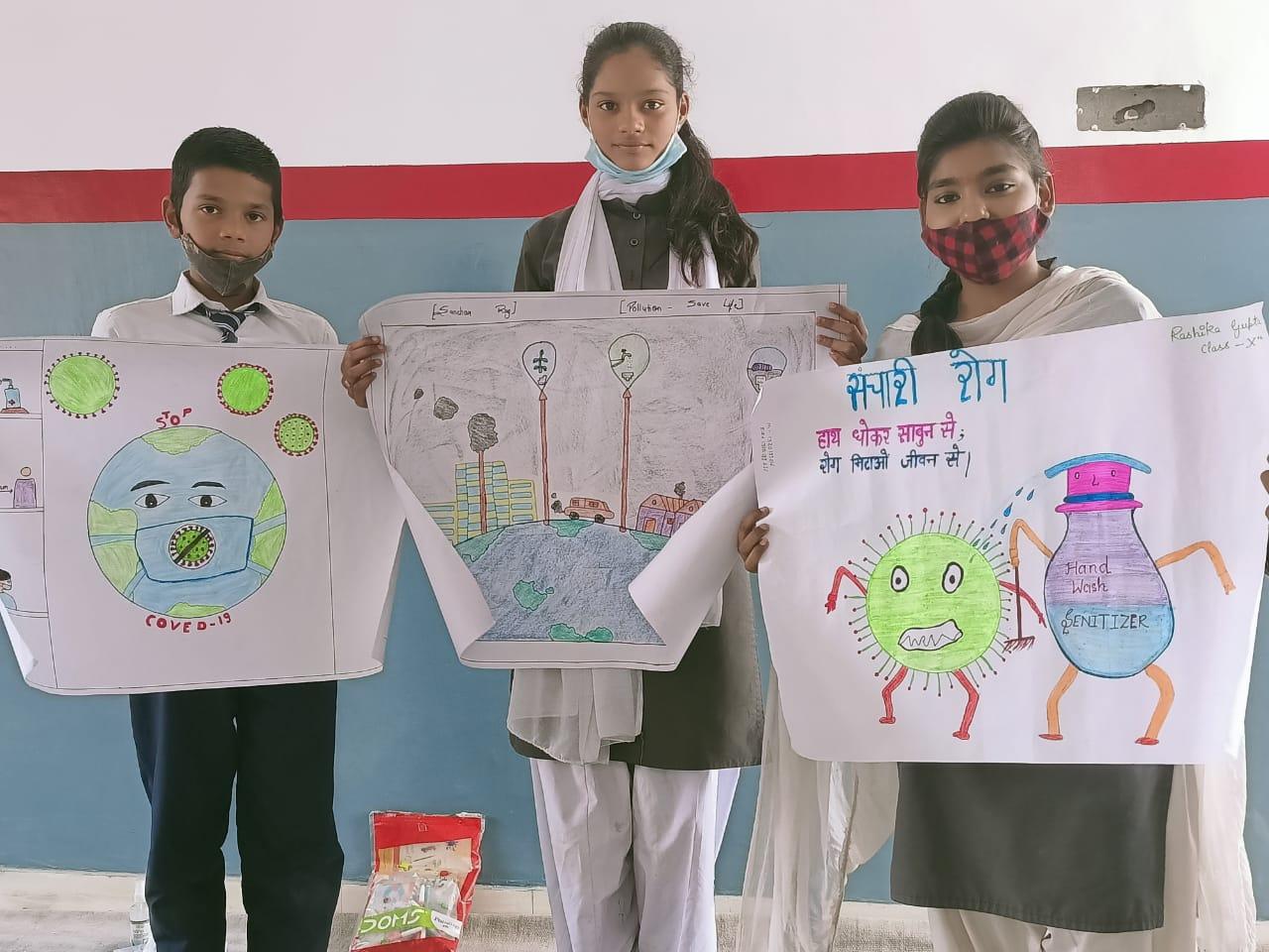 लखनऊ : स.शि.वि.मं. मॉडल हाउस में संचारी रोग जागरूकता अभियान के अन्तर्गत विभिन्न प्रतियोगिताओं का  किया गया आयोजन