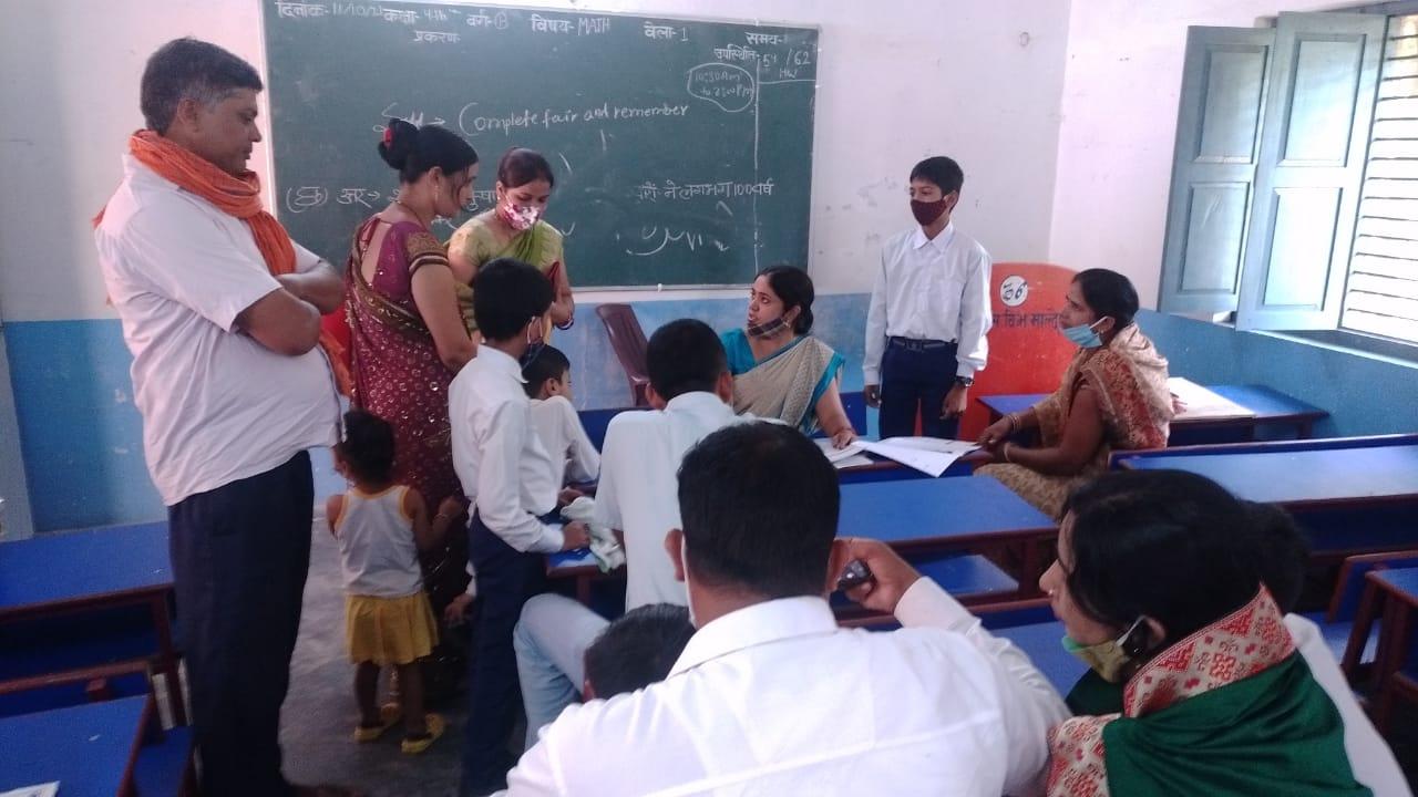 बलिया : नागाजी सरस्वती विद्या मंदिर माल्देपुर में अभिभावक शिक्षक संवाद सम्पन्न